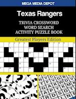 Texas Rangers Trivia Crossword Word Search Activity Puzzle Book
