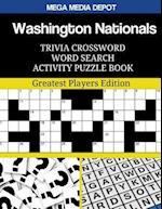 Washington Nationals Trivia Crossword Word Search Activity Puzzle Book