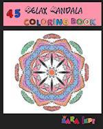 Relax Mandala Coloring Book Adult Art