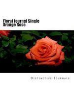 Floral Journal Single Orange Rose