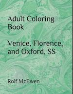 Adult Coloring Book Venice, Florence, and Oxford, SS