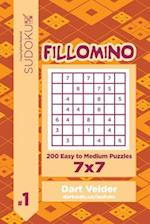 Sudoku Fillomino - 200 Easy to Medium Puzzles 7x7 (Volume 1)