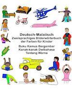 Deutsch-Malaiisch Zweisprachiges Bilderworterbuch Der Farben Fur Kinder Buku Kamus Bergambar Kanak-Kanak Dwibahasa Tentang Warna