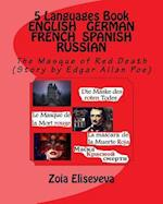 5 Languages Book English - German - French - Spanish - Russian