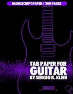 Tab Paper for Guitar