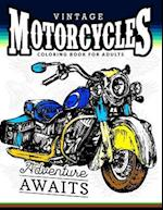 Vintage Motorcycles Coloring Books for Adults