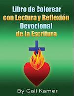 Libro de Colorear Con Lectura y Reflexion Devocional de La Escritura