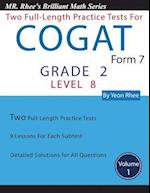 Two Full Length Practice Tests for the Cogat Form 7 Level 8 (Grade 2)