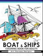 Boat & Ship Coloring Book for Adults