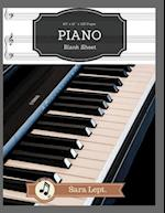 Piano Blank Sheet for Writing Record Happiness Music Paper 120 Page Sheet
