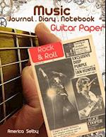 Music Journal . Diary . Notebook, for Guitar Music