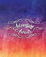 Adventure Awaits, Quote Inspirational Writing Journal