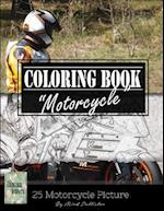 Motocycle Biker Grayscale Photo Adult Coloring Book, Mind Relaxation Stress Relief