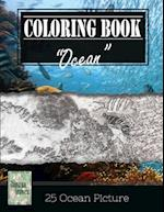 Ocean Underwater Greyscale Photo Adult Coloring Book, Mind Relaxation Stress Relief