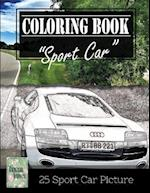 Sportcar Greyscale Photo Adult Coloring Book, Mind Relaxation Stress Relief