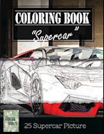 Supercar Modern Model Greyscale Photo Adult Coloring Book, Mind Relaxation Stress Relief