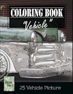 Vehicle Vintage Greyscale Photo Adult Coloring Book, Mind Relaxation Stress Relief