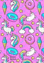 Unicorn Notebook Cute Kawaii Notebook with Unicorns & Rainbows