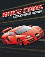 Race Cars; Easy Coloring Book for Boys Kids Toddler, Imagination Learning in School and Home