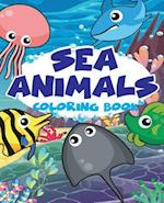 Sea Animal Vol1; Easy Coloring Book for Kids Toddler, Imagination Learning in School and Home
