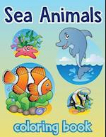 Sea Animal Vol2; Easy Coloring Book for Kids Toddler, Imagination Learning in School and Home