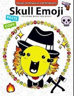 Skull Emoji Coloring Book for Adults