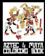 Aztec & Mayan Coloring Book - 26 Designs to Color in - Colouring Book