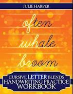 Cursive Letter Blends Handwriting Practice Workbook