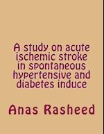 A Study on Acute Ischemic Stroke in Spontaneous Hypertensive and Diabetes Induce