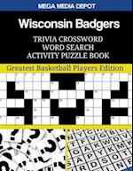 Wisconsin Badgers Trivia Crossword Word Search Activity Puzzle Book