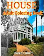 House Coloring Book for Adults Relaxation Meditation Blessing