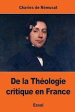 de La Theologie Critique En France