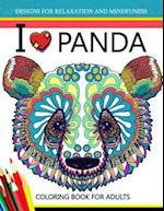 I Love Panda Coloring Book for Adult
