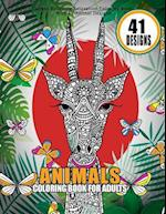 Animals Coloring Book for Adults Stress Relieving Relaxation Coloring Book with 41 Animal Designs