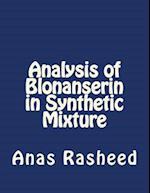 Analysis of Blonanserin in Synthetic Mixture