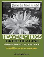 Heavenly Hugs Grief Healing Grayscale Photo Coloring Book