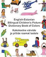 English-Estonian Bilingual Children's Picture Dictionary Book of Colors