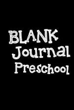 Blank Journal Preschool