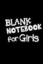Blank Notebook for Girls