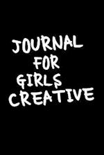 Journal for Girls Creative