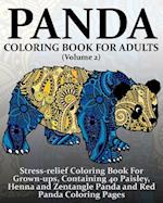 Panda Coloring Book for Adults (Volume 2)