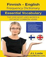 Finnish English Frequency Dictionary - Essential Vocabulary