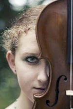 Beautiful Young Woman and Her Violin Musical Instrument Journal