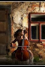 Beautiful Woman Playing the Cello Outdoors Music Journal