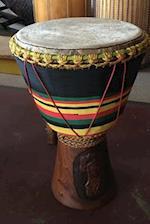 Vintage African Tribal Drum Percussion Instrument Rhythm Journal