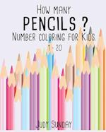 How Many Pencils? Number Coloring for Kids