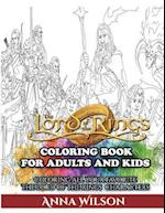 The Lord of the Rings Coloring Book for Adults and Kids