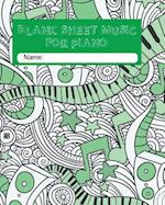 Blank Sheet Music for Piano Paperback