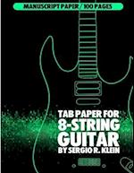 Tab Paper for 8-String Guitar