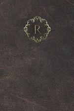 Monogram R Meeting Notebook